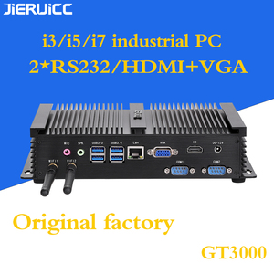 Image 1 - 2COM RS232 FANLESS מיני מחשב עם 4 USB3.0, INTEL CORE I3 I5 I7 מעבד DUAL CORE 4 אשכולות, 7*24 שעות עבודה, צריכת חשמל נמוכה