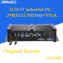 2COM RS232 FANLESS MINI PC CON 4 USB3.0, INTEL CORE I3 I5 I7 CPU DUAL CORE 4 FILI, 7*24 ORE di LAVORO, A BASSO CONSUMO di energia