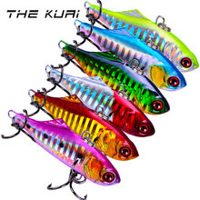 THEKUAI Fishing Lure Hard Artificial Bait Spoon Whopper 14g /65mm With 8# Hook Minnow Crank bait VIB Fish Lures Bass Tackle