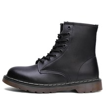 Shoe Boots Couple Male Autumn Martens Man Casual Genuine-Leather Comfortable Mujer Ankle