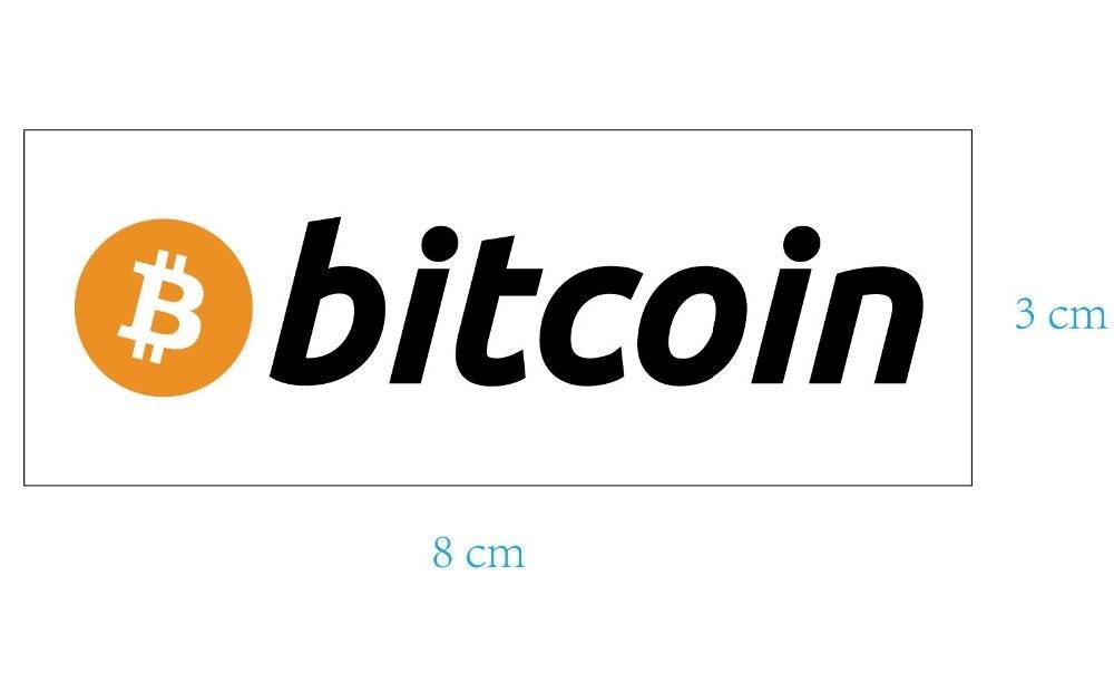 160 pçs lote 8x3 centímetros bitcoin logotipo