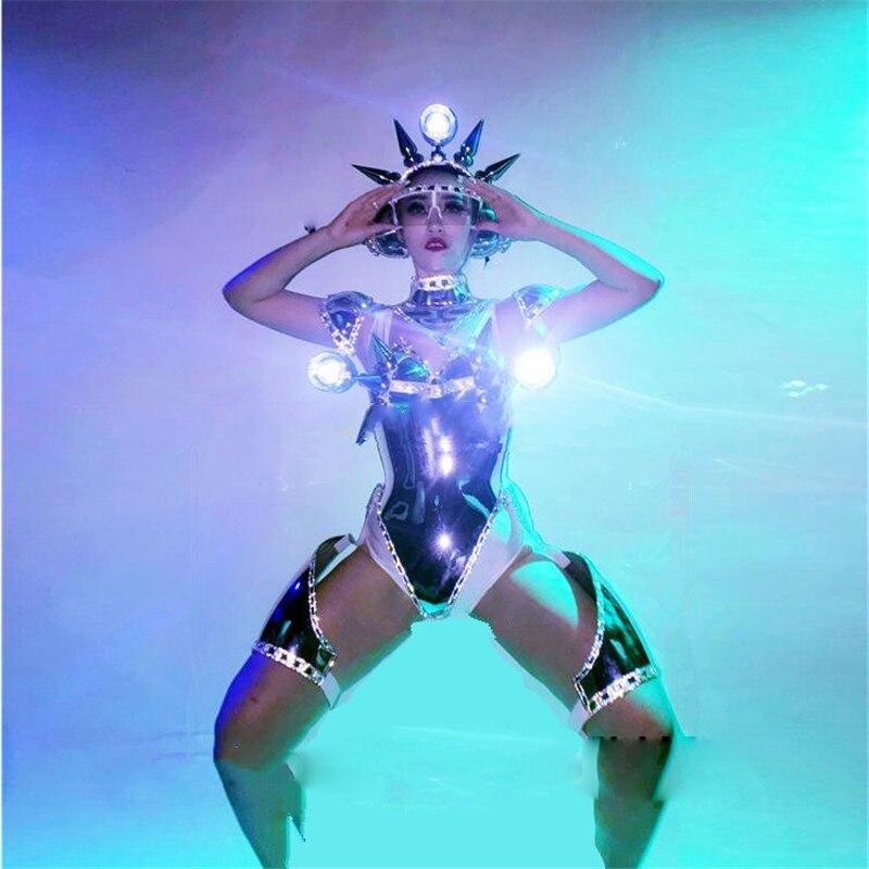 Best Price 1211e R Catwalk Shows Night Club Ba Women Robot Suit