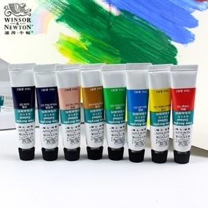 Image 2 - Winsor & newton conjunto de pinturas artesanais, pinturas profissionais de acrílico de 10ml, 12/18/24 cores, tecido, coloridas com brilho pigmentos
