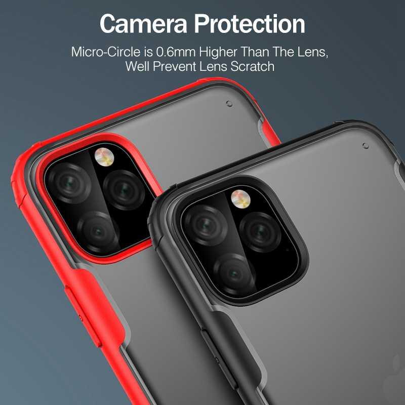روك صدمات حقيبة لهاتف أي فون 11 برو ماكس XS XR حامي غطاء آيفون 7 8 Plus PC عودة حقيبة هاتف محمول ماتي شل Coque