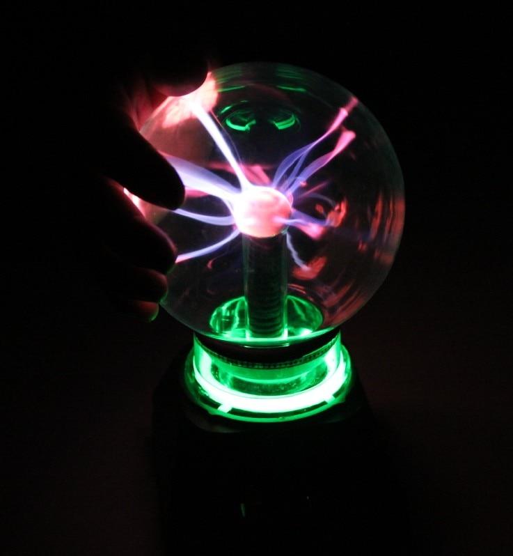 Novelty 4 5 Inch Glass Magic Plasma Ball Light Table Lights Sphere Nightlight Kids Gift For New Year Magic Plasma Night Lamp