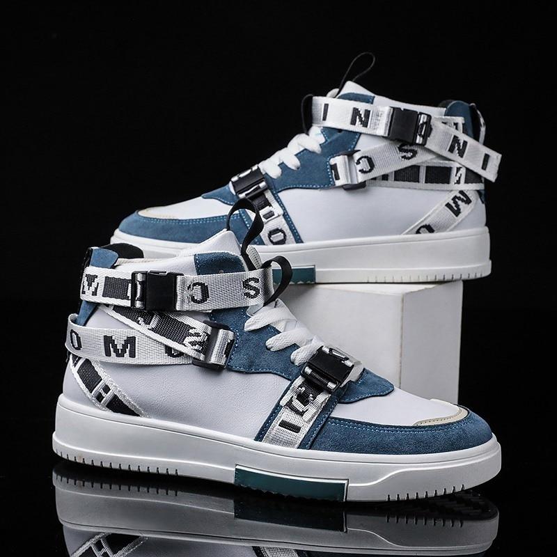 Lh19 высокие ботинки в гонконгском стиле на осень и зиму