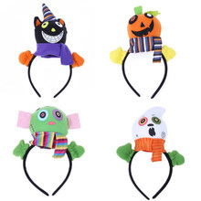 1PC Halloween Gift Pumpkin Hair Clasp Look Style Head Make-up Show Decor Halloween Party Decoration(China)