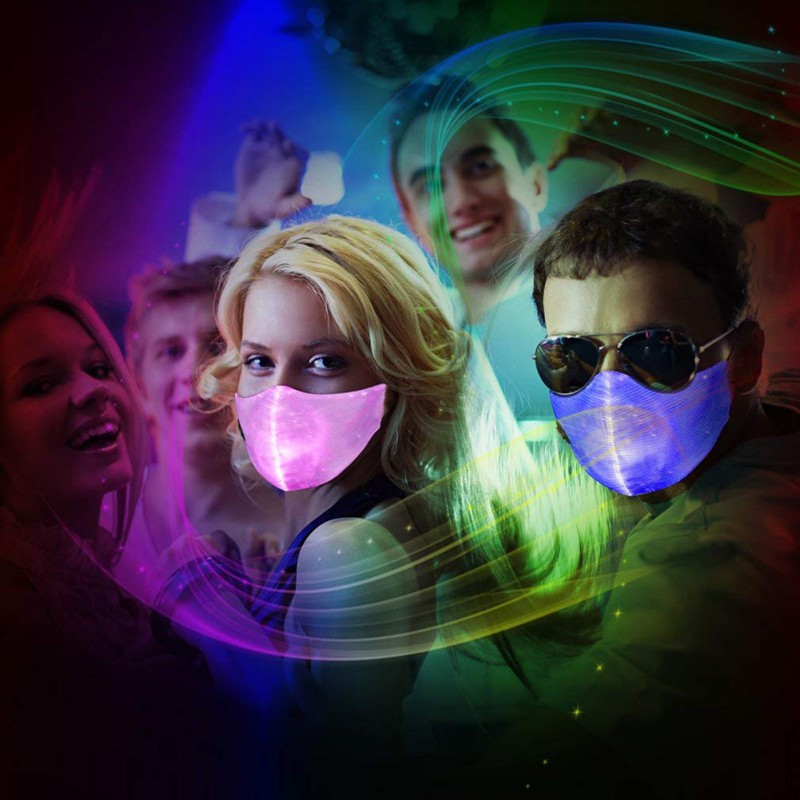 Anti Dust LED Mouth Mask Changeable Luminous Face Mask With USB Charge Masks for Break Dance DJ Music Party Halloweens 1