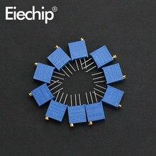 20 pz/lotto 3296W Trimmer Potenziometro Variabile Resistore 100 Ohm 200 Ohm 1K 2K 20K 50K 100K 200K 500K 1M 10k potenziometro