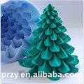 Форма для рождественской елки  Пищевая силиконовая форма  сделай сам  украшение  рождественское мыло с изображением дерева  свеча  силикаге...