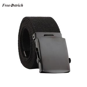 Free Ostrich Unisex Automatic Fashion Nylon Belt Buckle Classic Popular Casual Light Practical Woven canvas belts for grils Oct.