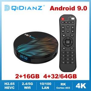 Image 1 - HK1MAX Android 9,0 Smart TV Box Quad Core 2,4G/5G Wifi BT 4,0 DDR3 4K HDR media Player VS X96 HK1 MAX MINI Set Top Box Google