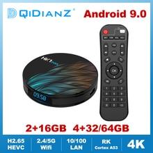 Hk1max android 9.0 smart tevê caixa quad núcleo 2.4g/5g wifi bt 4.0 ddr3 4k hdr media player vs x96 hk1 max mini conjunto caixa superior google