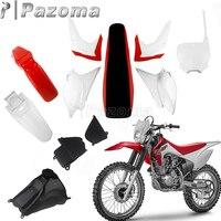 Motocross Plastic Kit Full Body Fairing Side Panels Fender Fuel Tank Radiator Shrouds Front Number Plate For Honda CRF230F 15 19