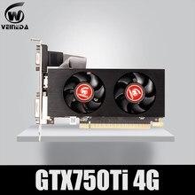 Placa de vídeo gtx 750ti da placa gráfica de veineda 4gb 128bit 5000mhz gddr5 para placas vga de nvidia mais fortes do que gtx 750 ti 2gb