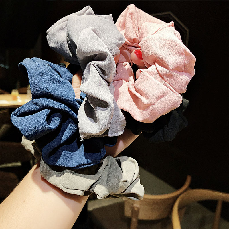 Women Elegant Striped Dot Solid Elastic Hair Bands Tie Scrunchie Ponytail Holder Rubber Bands Hair Rope Fashion Hair Accessories