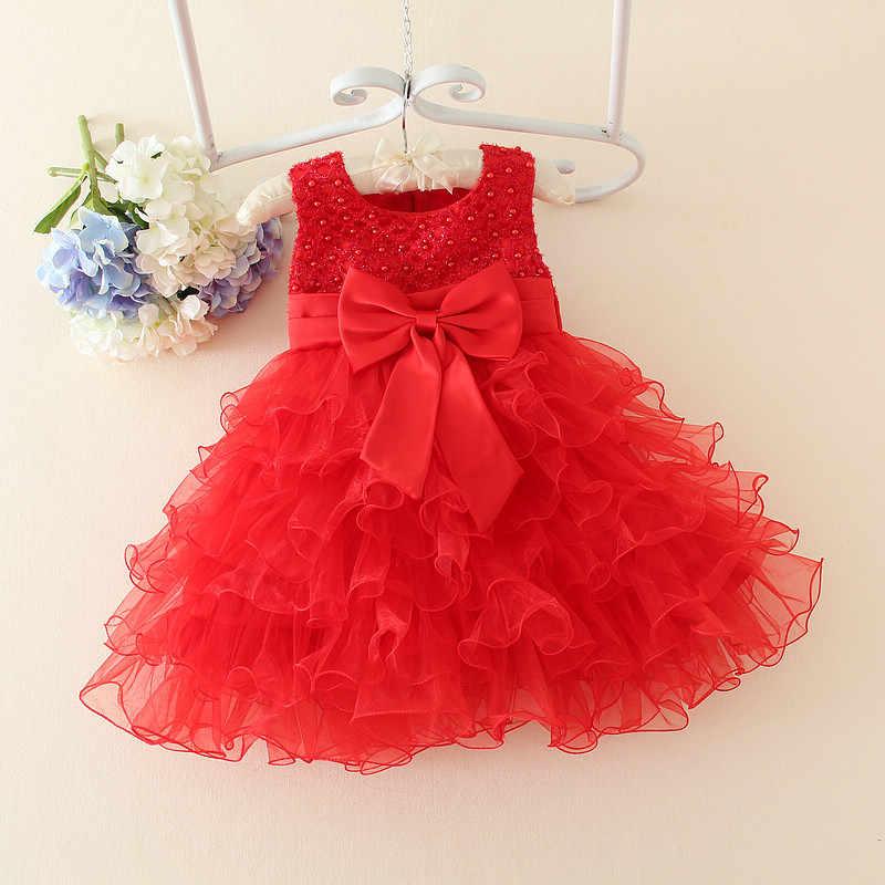 חם תחרת פרח בנות חתונת שמלת תינוק בנות הטבלה עוגת שמלות למסיבה אירוע ילדים 1 שנה תינוקת יום הולדת שמלה