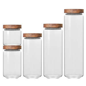 Household Glass Tea Cans Round Lid Coffee Confectionery Food Cans Cereal Storage Box Kitchen Storage Tank