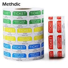 Methdic Wholesale Custom Double Raffle Coupon Ticket Roll
