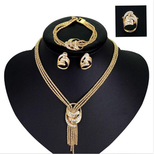 4pcs Jewelry Set For Women Afr
