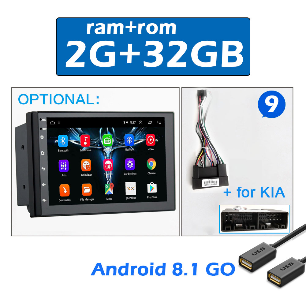 2 din CAR ANDROID 7 -9