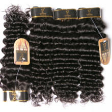 Yavida Indian Hair Human Hair Bundles Deep Wave Bundles Non Remy Hair Extensions 1/3/4 Pieces Natural Color(China)