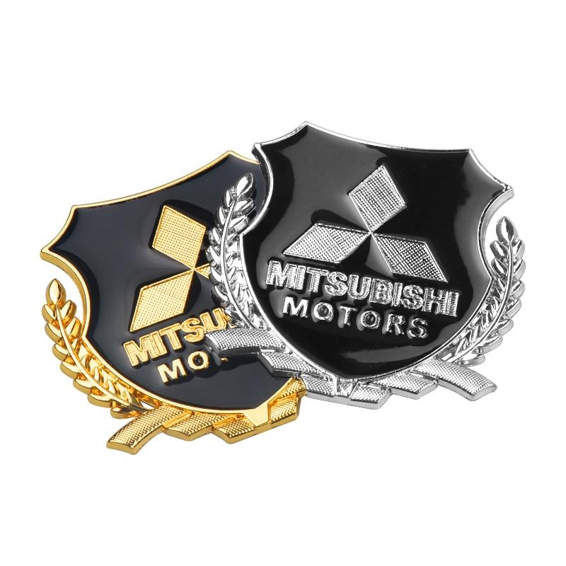Estilo de coche 3D Metal VIP emblema adhesivo Auto calcomanías para mitsubishi lancer asx outlander pajero galant Accesorios