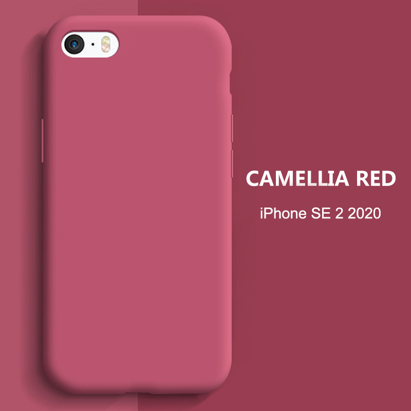 Luxury Liquid Silicone Case For iPhone 11 Pro Max SE 2 2020 XS XR X 10 6 S 6S iPhone 7 8 Plus Cell Phone Soft Back Cover 2