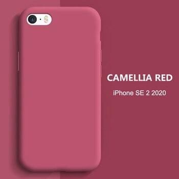 YISHANGOU Pour Apple iPhone 11 Pro Max SE 2 2020 6 S 7 8 Plus X XS MAX XR Mignonne Couleur Bonbon Couples Doux Silicone Couverture Arrière 2