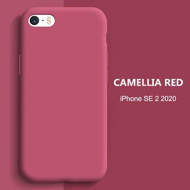 YISHANGOU Caso Per il iPhone di Apple 11 Pro Max SE 2 2020 6 S 7 8 Più di X XS MAX XR carino Colore Della Caramella Coppie Molle Silione Della Copertura Posteriore 2