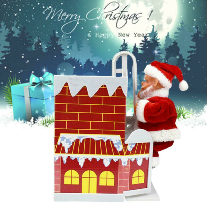 New Arrival Climbing Chimney Santa Claus Music Dancing Doll Xmas Vocal Toys Electric Musical Toy Funny Christmas Gift Toy