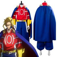 Season 4 Boku no Hero My Hero Academia All Might/AllMight Cosplay Costume Battle Suit Cloak Adult Halloween Carnival Costumes