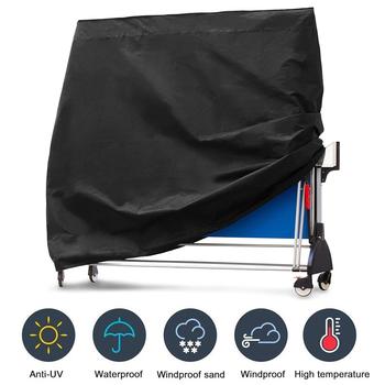 Wodoodporne Pings Pong stół do przechowywania pokrywy wewnętrzna ochrona zewnętrzna stół do tenisa stołowego meble Case 165x70x185cm tanie i dobre opinie Nowoczesne Tkaniny folding ping pong table cover support 1 pcs