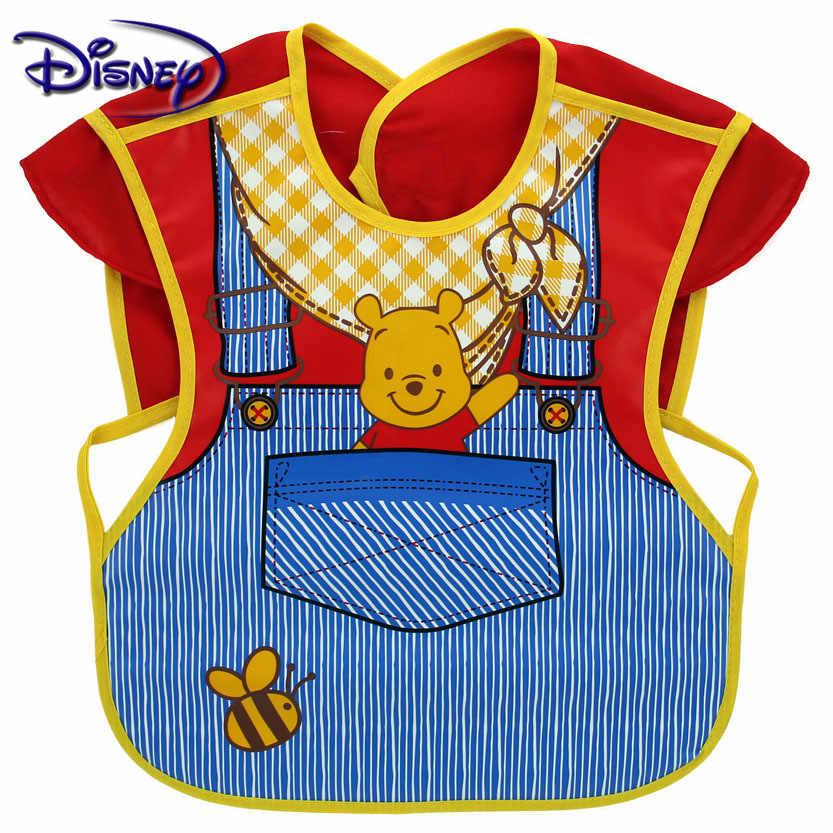 Disney Lucu Bayi Oto EVA Tahan Air Tanpa Lengan Makan Siang Makan Oto Bayi Gambar Kartun Makan Kain Anak Bayi Celemek