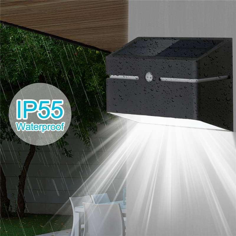 LED Solar Wall Lamp Outdoor Garden Lighting Waterproof IP65 PIR Motion Sensor Control + Light Control Emergency Street Lamp|Solar Lamps| |  - title=