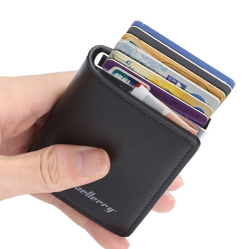 New Men And Women Automatic Credit Card Coin Purse Aluminum Wallet ID Card Holder RFID Blocking Mini Magic Wallet