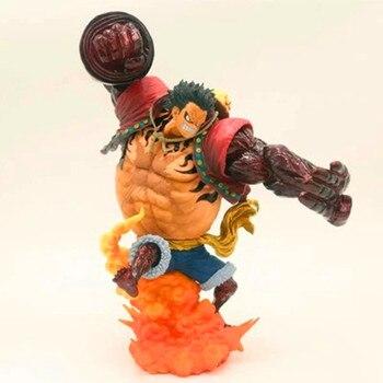 Anime King Gun Gear Fourth Snake Man Luffy 24CM PVC Action Figure Model Giocattolo X2340