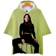 İspanyol kadın şarkıcı Rosalia T Shirt kadın erkek yaz kapşonlu T gömlek ROSALIA 3D baskı Harajuku Tee Streetwear giyim 2021