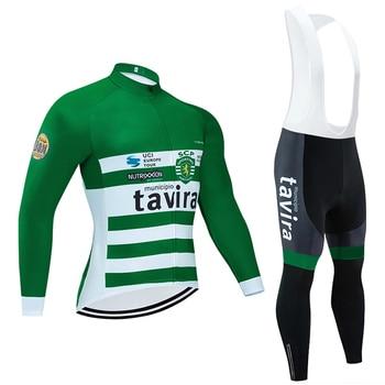 Invierno 2020 Avira manga larga Ciclismo JERSEY 20D bicicleta pantalones conjunto hombres...