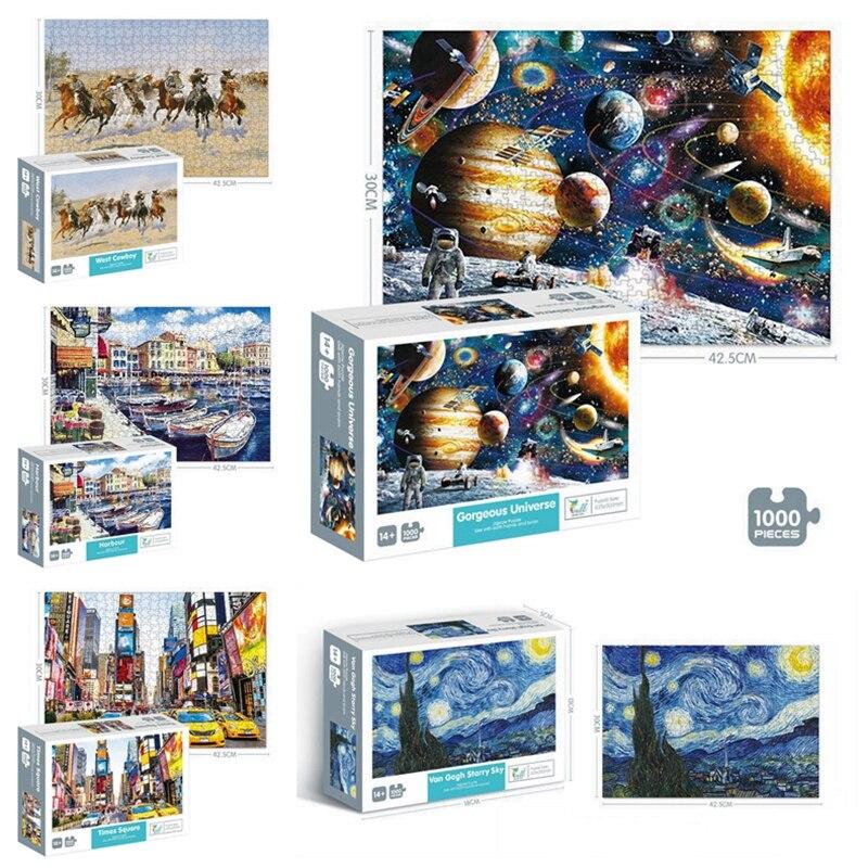 Puzzle 1000 Pieces Adult Puzzle Jigsaw Montessori Parper Puzzles adulto Educational Toys 1000 Pieces Puzzle 3d Antistress Toys(China)
