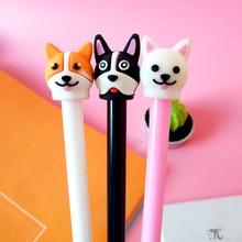 0.5mm black water pen students sign pen creative stationery cute cartoon little cute dog neutral pen