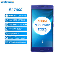 DOOGEE BL7000 7060mAh 12V2A Quick Charge 5.5'' FHD MTK6750T Octa Core 4GB RAM 64GB ROM Smartphone Dual 13.0MP Camera Android 7.0