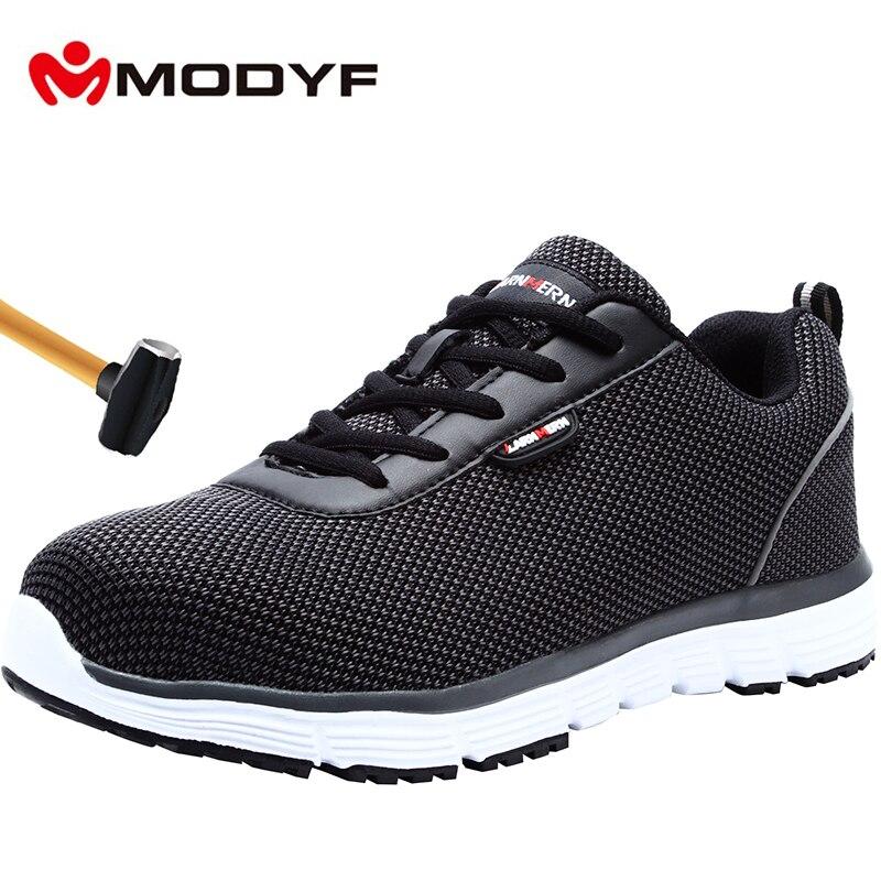 MODYF mężczyźni bezpieczeństwa buty oddychające ze stali Toe lekki anty smashing antypoślizgowe odblaskowe casualowe buty sportowe buty robocze w Obuwie robocze i ochronne od Buty na AliExpress - 11.11_Double 11Singles' Day 1