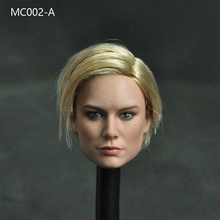 Fans collection MC002 1/6 female action figure doll head Brie Larson Female Head Sculpt with Long Golen Hair for 12inches Body
