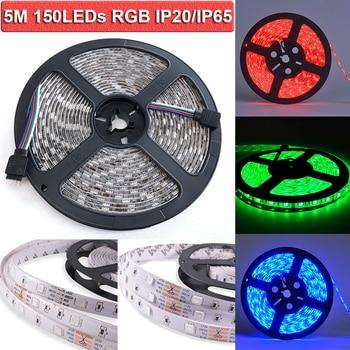 цена на LED Strip Outdoor 5M 5050SMD RGB 12V High Brightness LED Strip Light For Home Car Decoration D30