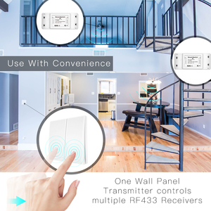 Image 2 - 433Mhz Wireless Smart Switch RF Remote Control Receiver Push Button Controller Wall Panel Transmitter,2 way/3 way Multi Control