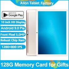 2020最新のアンドロイド9.0パイ10インチタブレットパッド電話コールリアピクセル5.0MP 32ギガバイトromデュアルsim 2.5D強化ガラス планшетный пк