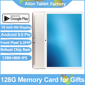 Image 1 - 2020 Newest Android 9.0 Pie 10 inch Tablet Pad Phone Call Rear pixel 5.0MP 32GB ROM Dual SIM 2.5D Tempered Glass Планшетный ПК