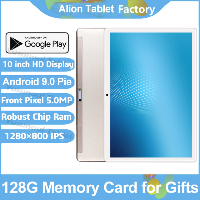 2020 Newest Android 9.0 Pie 10 inch Tablet Pad Phone Call Rear pixel 5.0MP 32GB ROM Dual SIM 2.5D Tempered Glass Планшетный ПК