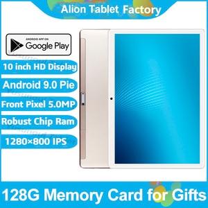 Image 1 - 2020 najnowszy Android 9.0 ciasto 10 cal Tablet Pad telefon z tyłu pikseli 5.0MP 32GB ROM Dual SIM 2.5D szkło hartowane Планшетный ПК
